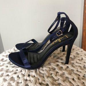 Navy Blue Lulu's Heels Size 6.5